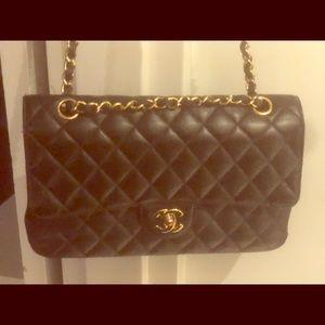 Black Classic Medium Shoulder Bag BlacK Caviar